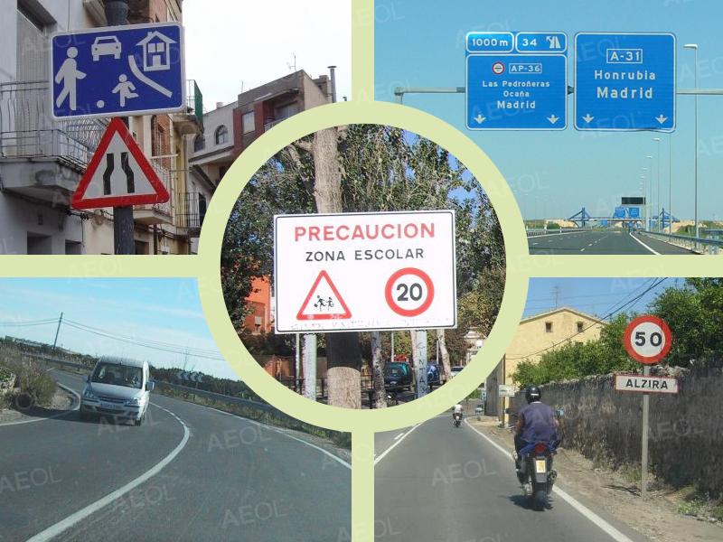 medidas a adoptar en cada tipo de vía